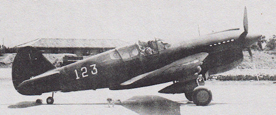 Number 123 P-40E of the AVG