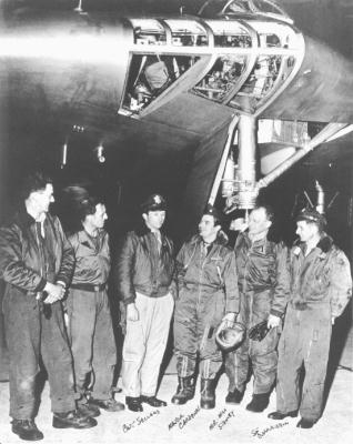 YB-49 and crew at Andrews AFB