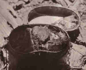 cookpot with human meat