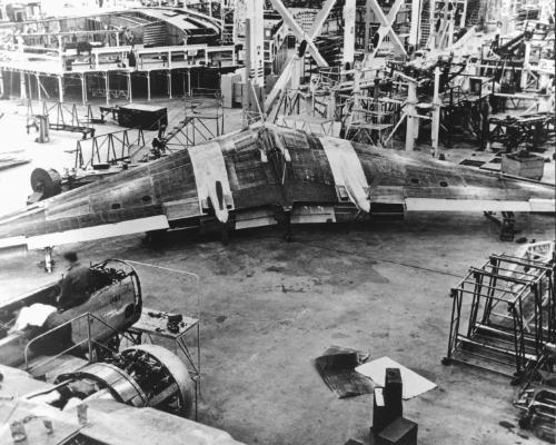 N-9M under construction at the Northrop factory