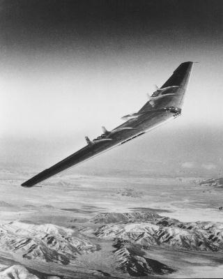 YB-49 Flying Wing over the Mojave Desert